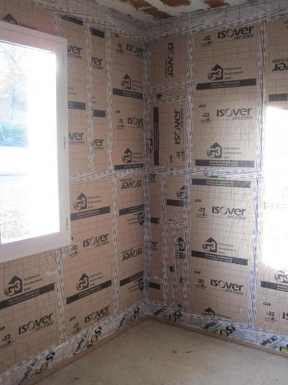 Plafond briquettes isolation verticale